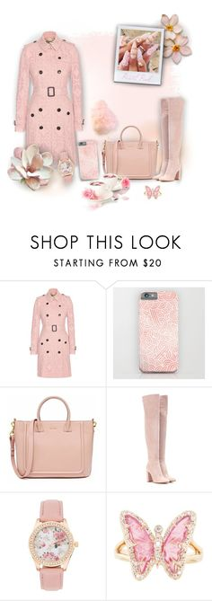 """Pastel pink"" by savousepate ❤ liked on Polyvore featuring Burberry, Gianvito Rossi, Luna Skye, Winter, Pink and pastel"