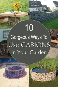 10+Gorgeous+Ways+To+Use+Gabions+in+Your+Garden