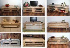 Couchtische - Mix & Match Lowboard / TV-Schrank  aus Pale... - ein Designerstück von Woodful bei DaWanda
