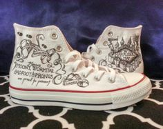 Converse Marauder's Map Harry Potter Shoes