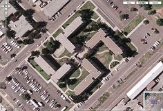 Building in the shape of a Swastika at Coronado Naval Base in California as seen in Google Maps. The controversy erupted when the building's shape became widely known due to the image being easily accessible in satellite images, and the military stated they would alter the building's roof profile to remove the offensive icon shape.