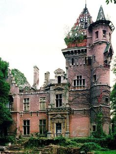 Charle-Albert Castle or Chateau. The chateau is located on avenue Charles-Albert Watermael-Boitsfort, bordering the Sonian Forest in Belgium. It was completed in 1887. The building sustained heavy bombing damage in WWII. All plans to renovate the castle have come to nothing & the castle sits, waiting.