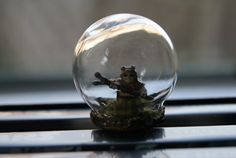 Glass terrarium dome ring with Star Wars Ewok. by ThehouseofBoo, £15.00
