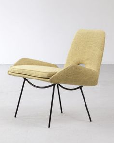 Carlo Hauner and Martin Eisler; Enameled Iron Lounge Chair for Forma, 1950s.