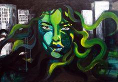 Town Acrylic on canvas