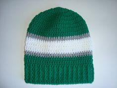 Philadelphia Eagles Crochet Slouch Hat Beanie by SuperCrochetMom