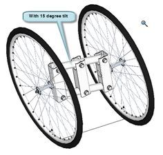 Do It Yourself Handcycle: Some more design work on the tilting rear wheels