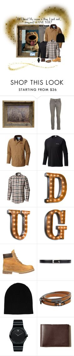 """""""Pixar Guys: Dug the Dog from """"Up""""!"""" by susan0219 ❤ liked on Polyvore featuring Levi's, Columbia, Vintage Marquee Lights, Timberland, Gucci, rag & bone, Diesel, Disney, Movado and Hollister Co."""