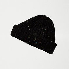 868d83f2a82 Black speckled fisherman beanie Mens Sale