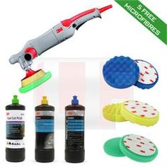 3M Rotary Machine Polishing Kit (5 FREE Microfibres)