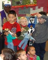 Deaf children at California School for the Deaf in Riverside recently received the first-ever signing doll for the deaf as a gift from the local Lions Club