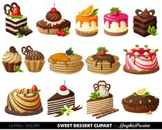 Cake Clipart, Cake Vector, Food Clipart, Cake Illustration, Food Illustrations, Breakfast Clipart, Ice Cream Clipart, Colorful Birthday Cake, Cute Food Drawings