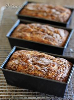 Better Snickerdoodle Bread (mini loaf pan recipe) If you like a Snickerdoodle cookie, you're going to love this Snickerdoodle bread. It's a sweet, buttery quick bread studded with luscious cinnamon chips with a crispy cinnamon sugar topping.