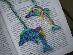 Snub fin dolphins crochet bookmarks ( finished crochet item) www.etsy.com