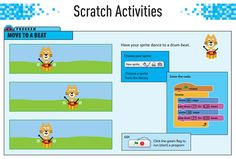 Printable Scratch coding worksheet for kids! Taken from Carol Vorderman's Computer Coding Scratch Games Made Easy, packed with simple instructions and graphics to break down coding with Scratch so kids learn all the code they need. Computer Coding For Kids, Computer Lessons, Computer Science, Programming For Kids, Computer Programming, Teaching Kids, Kids Learning, Computational Thinking, Apps