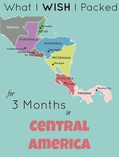Updated 3 months in Central America packing list: What I'm GLAD I packed, what I WISH I had packed, and what I absolutely REGRET packing.