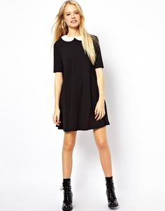 ASOS Swing Dress With Contrast Collar
