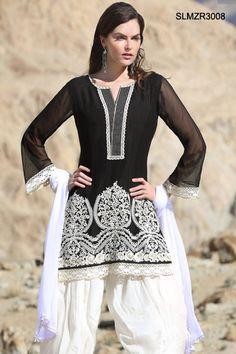 $96 Attractive Pure Georgette Patiala Suit From Cbazaar