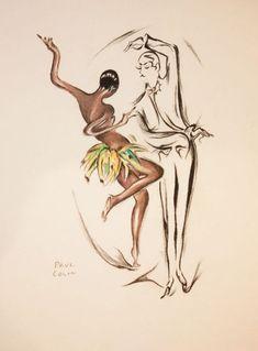 Josephine Baker, 1927  illustration by Paul Colin