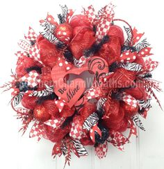 valentine wreath ideas with mesh - Yahoo Image Search Results