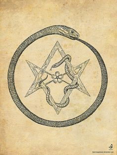 Ouroborus and Hexagram by Kain Morgenmeer.