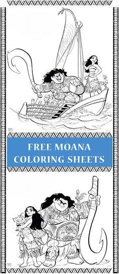 moana coloring sheets