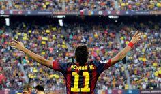 Neymar en el #clasico #fcbarcelona