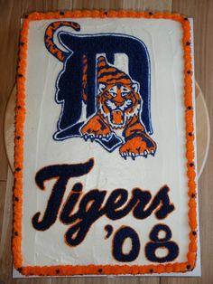 Detroit Tigers Little League Cake