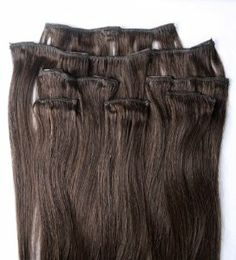 """Full Head 18"""" 100% REMY Human Hair Extensions 7Pcs Clip in #4 Dark Brown by Hair faux You. $59.99. High quality metal clip, corresponding colors looks natural;. High quality, tangle free, silky soft & thick;. Easy to attach and remove, totally DIYable.. 100% human hair, can be curled, dyed, straightened;. Full Head 18"""" 100% REMY Human Hair Extensions 7Pcs Clip in #4 Dark Brown. You are bidding on a brand new, Full Head 18"""" 100% REMY Human Hair Extensions 7 Pcs Clip in #4 Dar..."""