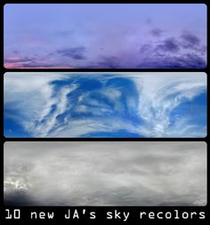 Because why not? :) 10 more recolors of the sky by Javiera. YES, please!  the mesh is included
