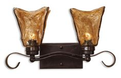 Vetraio 2 Light Bronze Vanity Strip by Uttermost Product Code: UTM22800 Oil Rubbed Bronze.  PinMeShop