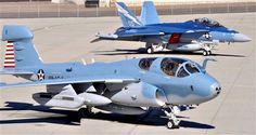 The Prowler and the Growler. The VAQ-129 birds at NAS North Island, San Diego, CA. Northrop Grumman EA-6B Prowler and the EA-18G Growler.