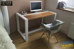 Welded Furniture, Industrial Design Furniture, Woodworking Furniture, Home Decor Furniture, Vintage Furniture, Furniture Design, Dinning Table Design, Office Table Design, Home Office Design