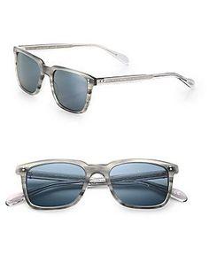 Oliver Peoples NDG Sun 50MM Acetate Sunglasses - Grey