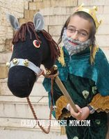 Sock Hobby Horse DIY Fit For A King (Or Mordechai HaTzaddik!) - creative jewish mom