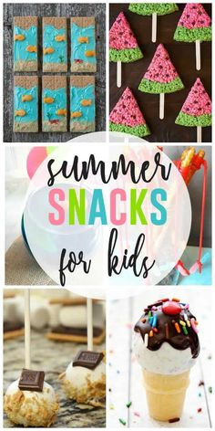 Healthy Meals For Kids Summer Snacks for Kids - Creative ways to prepare summer snacks for kids - Snack time doesn't have to be boring this summer. Here's a fun collection of Summer Snacks for Kids to try out this summer. Summer Kids Snacks, Beach Snacks, Summer Treats, Healthy Snacks For Kids, Kid Snacks, Summer Activities, Preschool Snacks, Summer Fun, Party Snacks