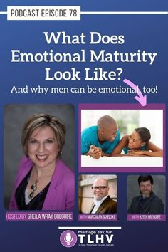 Is emotional maturity a female thing? (Hint: Nope!) And what does emotional maturity look like? #emotionalmaturity #emotionalhealth #happymarriage #healthyrelationships #tolovehonorandvacuum