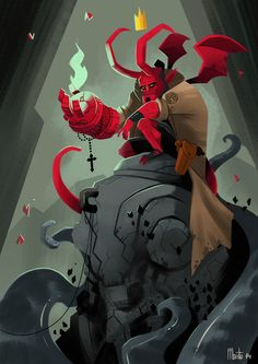 My piece for the Hellboy 20th Anniversary