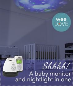 One *seriously* cool (and affordable) baby monitor.  (Who knew a monitor could add to your nursery decor?)
