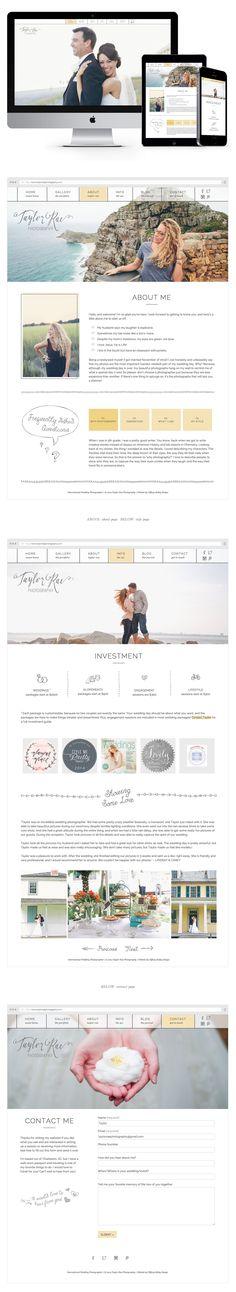 Responsive Wordpress Website Design by Tiffany Kelley Design :: Web Design #design #designer #graphicdesign #graphicdesigner #webdesign #webdesigner #designproject #branding #branddesign #brandidentity #photographerbranding #brandboard #wordpress #responsive #brandstylist #brandstyling