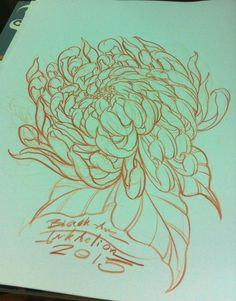 #Chrysanthemum #flower#tattoo#design