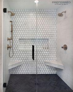 Master Bathroom Shower, Luxury Master Bathrooms, Black Tile Bathrooms, Small Master Bath, Luxury Shower, Master Bath Remodel, Shower Remodel, Bathroom Interior Design, Suffolk House
