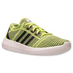 Tempting. Men's adidas Element Refine JS Running Shoes  FinishLine.com   Slime/Black/Black