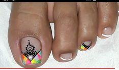 Cute Pedicures, Pedicure Nails, Toe Nail Art, Toe Nails, Purple And Pink Nails, French Pedicure, Triangles, Beauty Hacks, Nail Designs