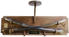 Crossed Sabers with Stetson Holder Wall Display $176
