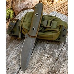 Viper model bush knife available with new hybrid Kydex sheath with integral locking pin and ballistic nylon pouch. This rig is setup for survival carry. Call or email for more info and photos. Also listed elsewhere. Price is shipped (US)