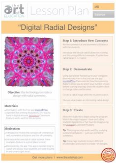 Digital Radial Designs: Free Lesson Plan Download