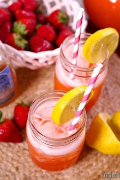 homemade lemonade recipes This Strawberry Lemonade is sure to please family and friends. Its a homemade lemonade recipe made with just four ingredients; strawberries, fresh squeezed lemons, water, and honey. Honey Lemonade, Homemade Strawberry Lemonade, Homemade Lemonade Recipes, Fresh Squeezed Lemonade, Vodka Lemonade, Raspberry Lemonade, Strawberry Recipes, Marzipan, Lemonade Concentrate Recipe