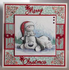 Christmas card using   Christmas with Barkley cd..