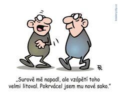 Pavel Kantorek - Surově mě napadl, ale vzápětí toho velmi litoval. Pokrvácel… Funny Memes, Jokes, Charlie Brown, Humor, Ale, Fictional Characters, Husky Jokes, Humour, Ale Beer